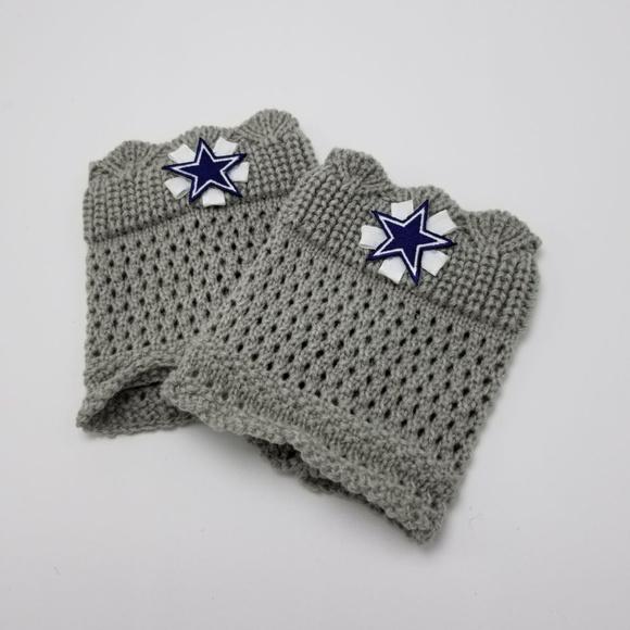 Bad Cat Craft Accessories Dallas Cowboys Boot Cuffs Handmade Boot